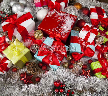holiday, christmas, background, with, stack, of - 25337500