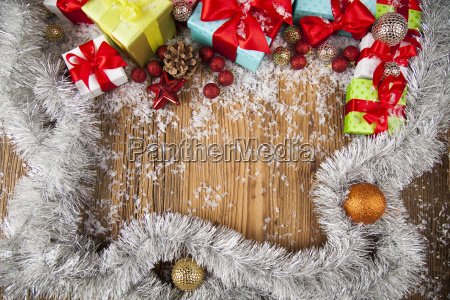 merry, christmas, frame, , gift, box, with - 25337348