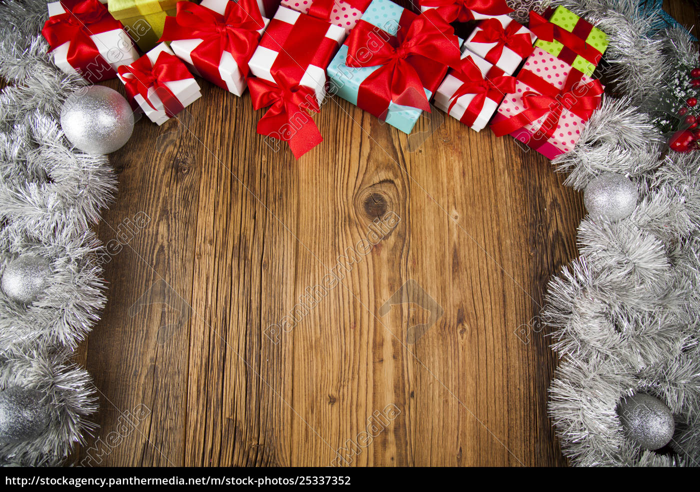 merry, christmas, frame, , gift, box, with - 25337352