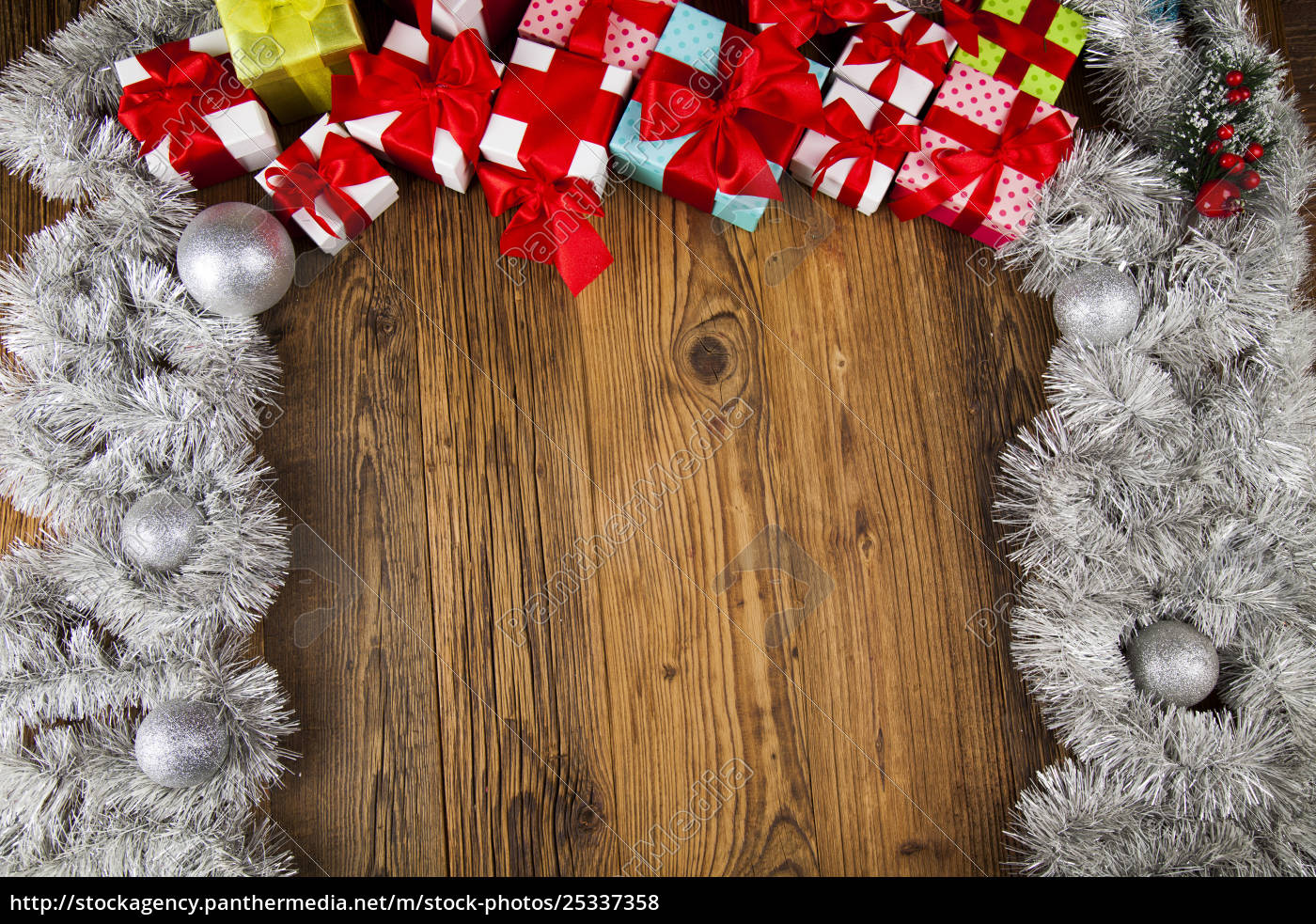 merry, christmas, frame, , gift, box, with - 25337358