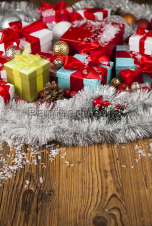 merry, christmas, frame, , gift, box, with - 25337480