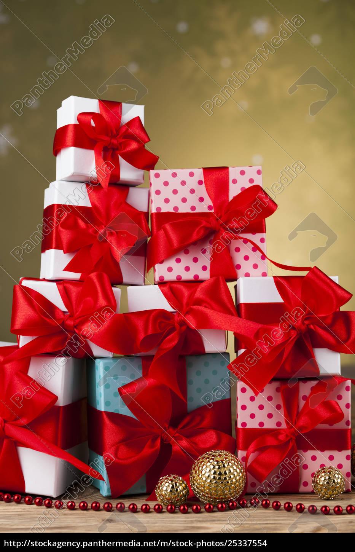 set, of, gift, box, , christmas, background - 25337554