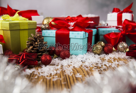 christmastime, celebration, , gift, box, with, red - 25338322