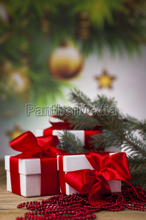christmastime, celebration, , gift, box, with, red - 25338688