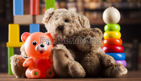 group, of, cute, teddy, bears, on - 25338646
