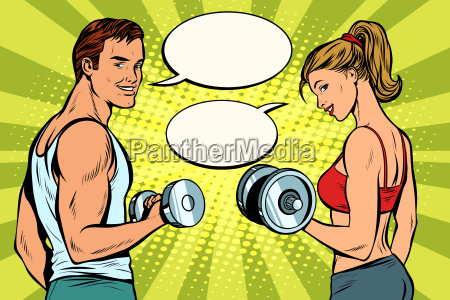 man, and, woman, in, the, gym - 25339318