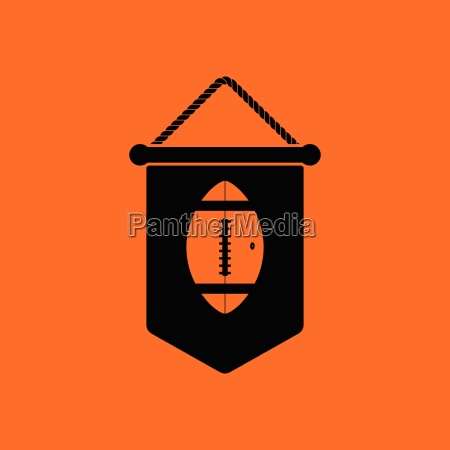american football pennant icon