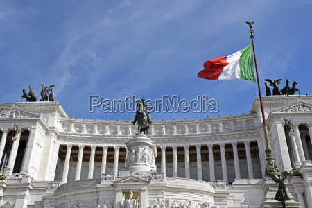 italian flag in front of the