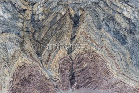 folded former seabed sea sediments rock