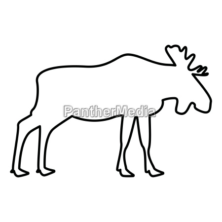 moose elt icon black color illustration