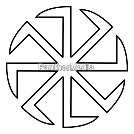 slavic slavonis symbol kolovrat sign sun