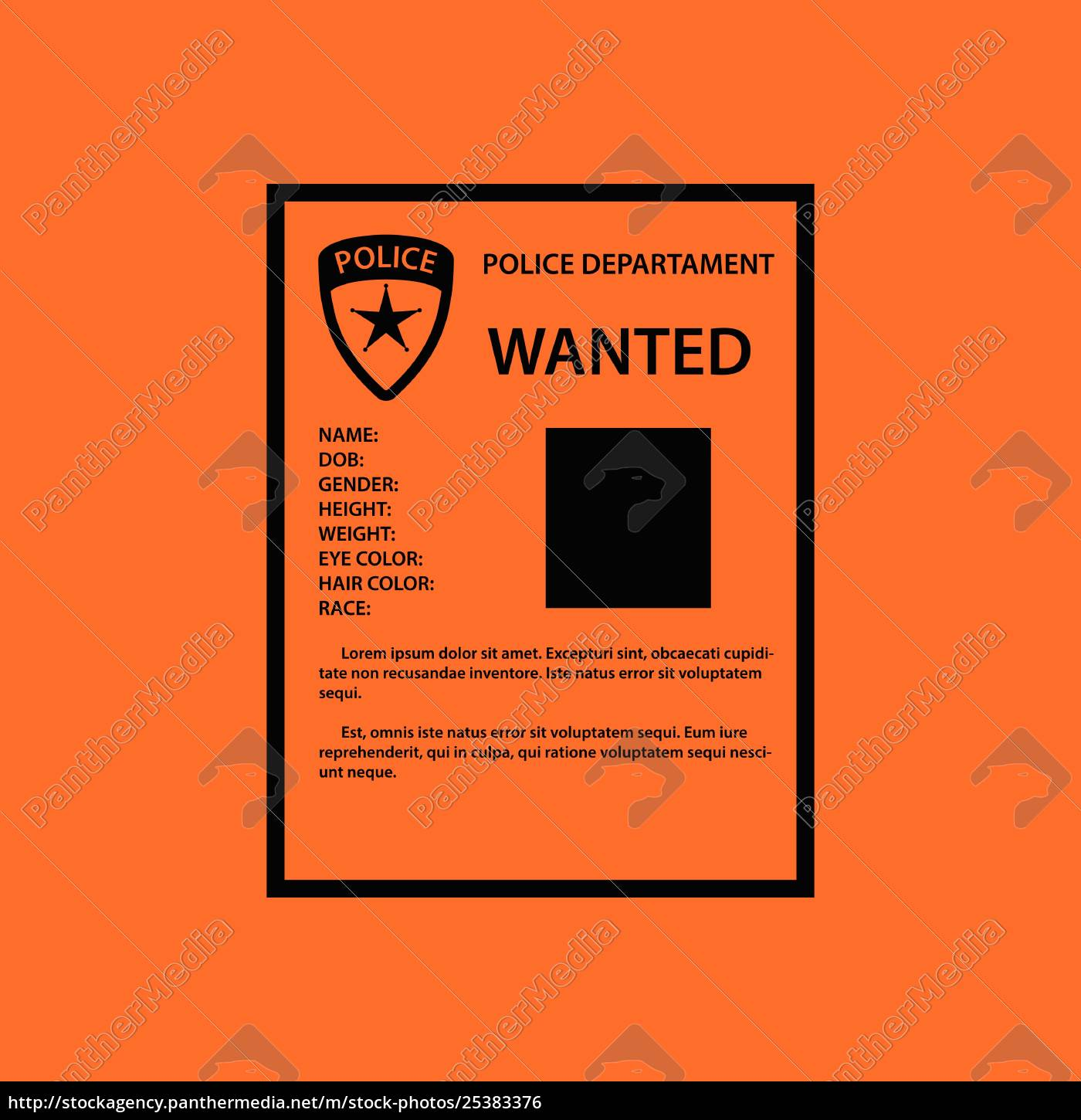 wanted, poster, icon - 25383376