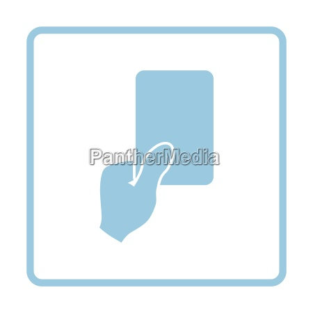 soccer referee hand with card