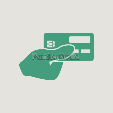 hand holding credit card icon
