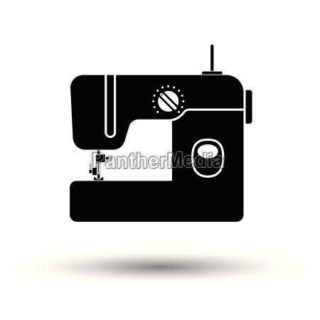 modern sewing machine icon