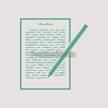 sheet with text and pencil icon