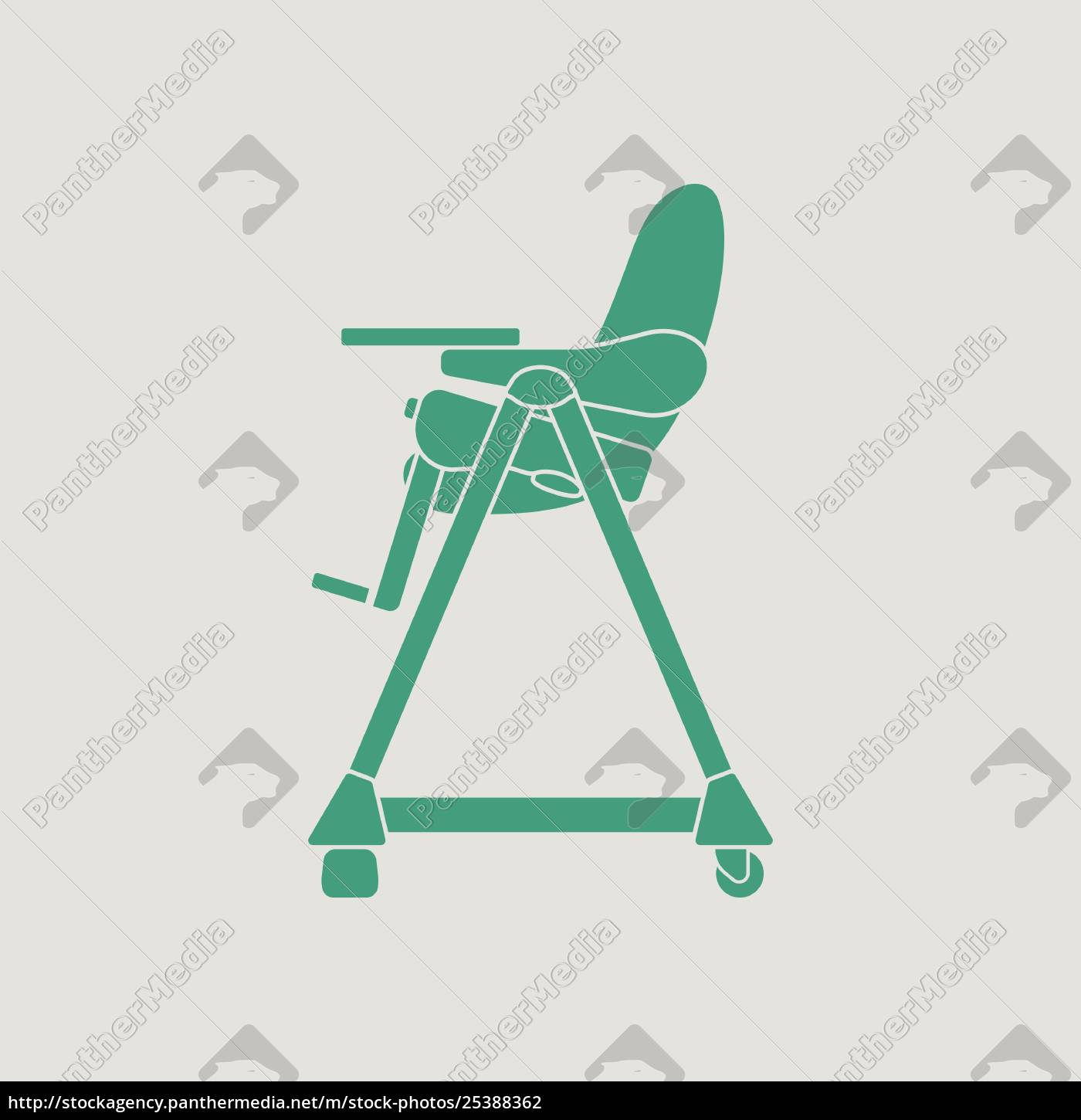 Baby High Chair Icon Stock Image 25388362 Panthermedia