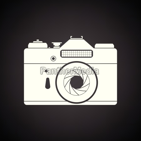 icon of retro film photo camera