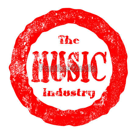 the music industry red ink rubber