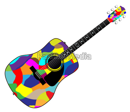 harlequin patchwork acoustic guitar