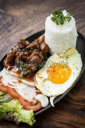 cambodian traditional khmer beef lok lak