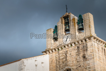 architectural detail of faro cathedral on