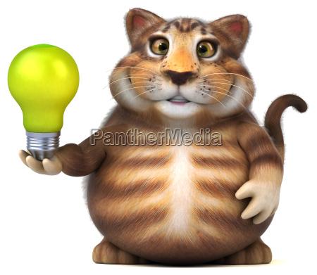 fun cat 3d illustration