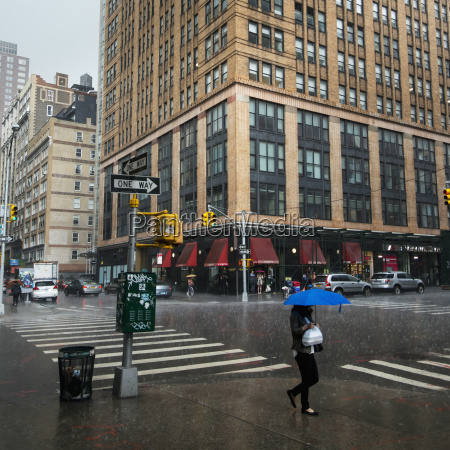heavy rainfall in a busy new
