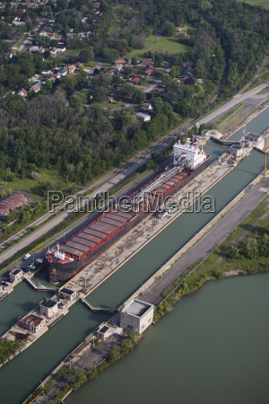 aerial view of the welland canal