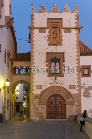 sunset in the beautiful sitges downtown