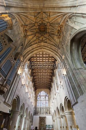 great malvern priory interior malvern worcestershire
