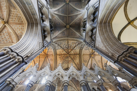 interior of worcester cathedral worcester worcestershire