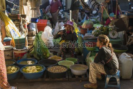 people around old market battambang cambodia