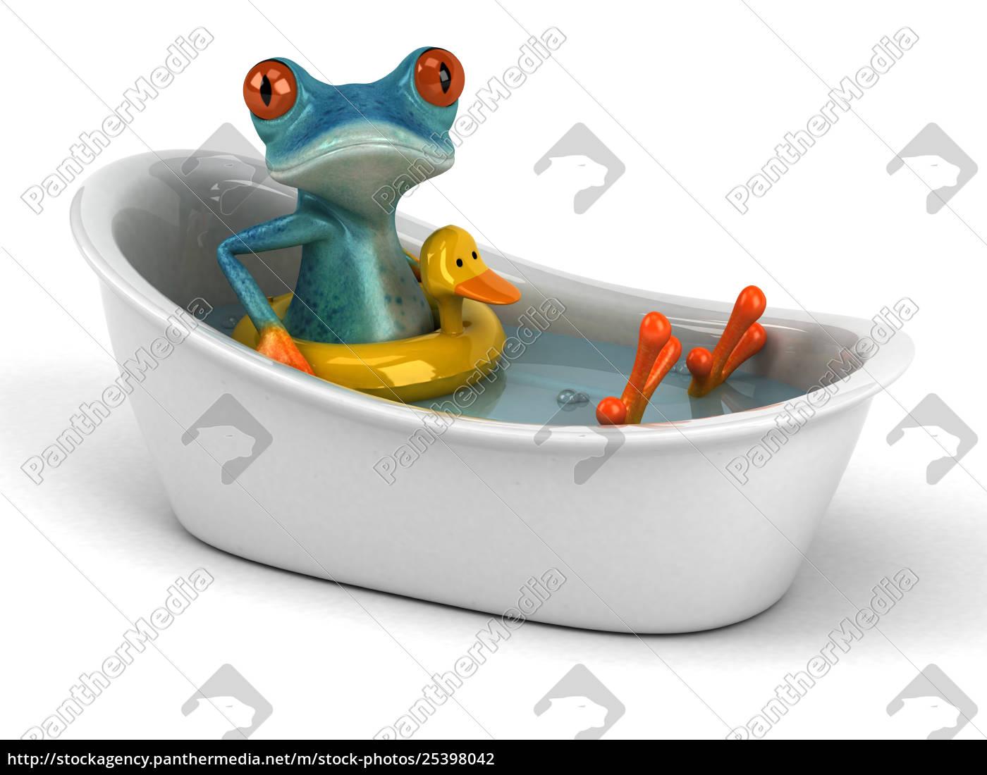 fun, frog, -, 3d, illustration - 25398042