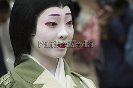 close up portrait of a japanese