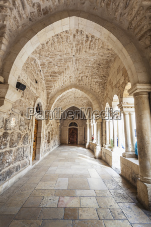 covered walkway at the church of