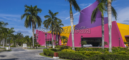 bright and colourful buildings at a