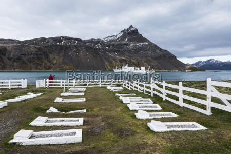 cemetery along the coast with a