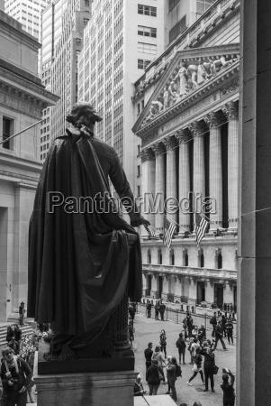 george washington statue new york stock