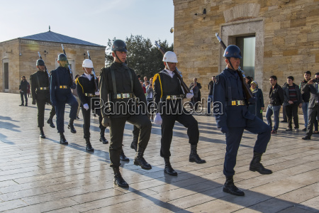 changing of the honour guard at