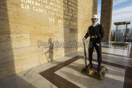 honour guard at anitkabir the mausoleum