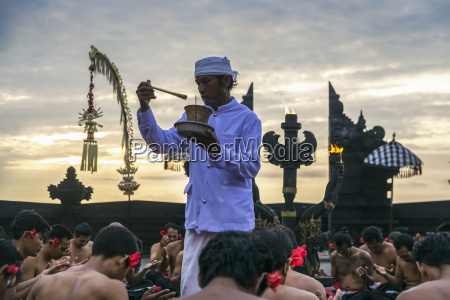 traditional kecak ritual also called fire