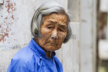 old, chinese, woman, , hongcun, , anhui, , china - 25405066
