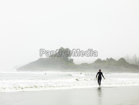 a surfer in a wet suit