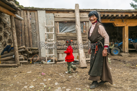 a woman and her grandddaughter outside