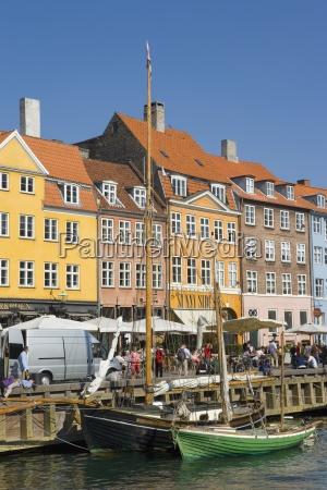 nyhavn canal copenhagen denmark boats in