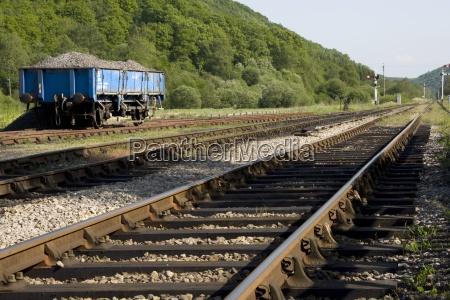 railroad track levisham north yorkshire england