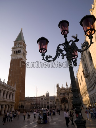 saint marks square with campanile venice