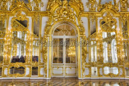 ornate decorative walls in gold designs