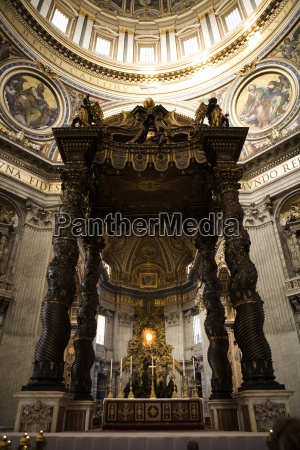 interior of st peters church vatican